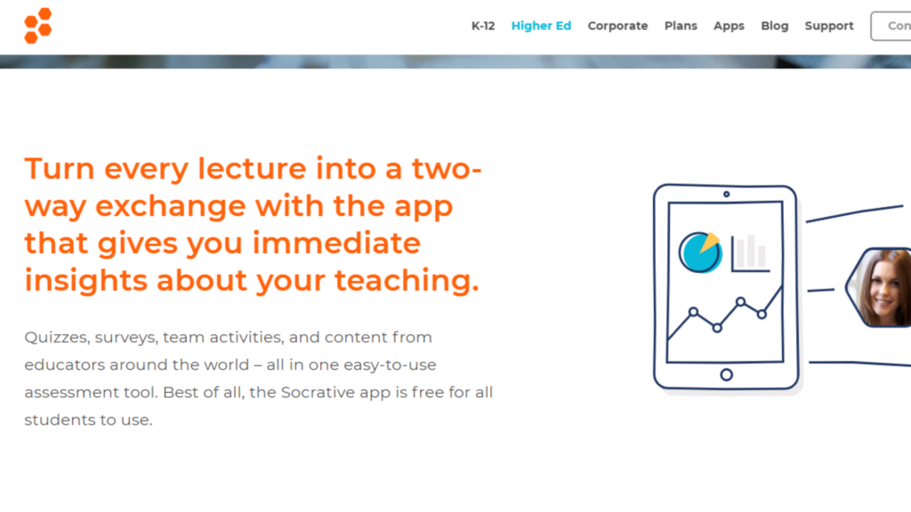 Socrative- educational tool to organise learning